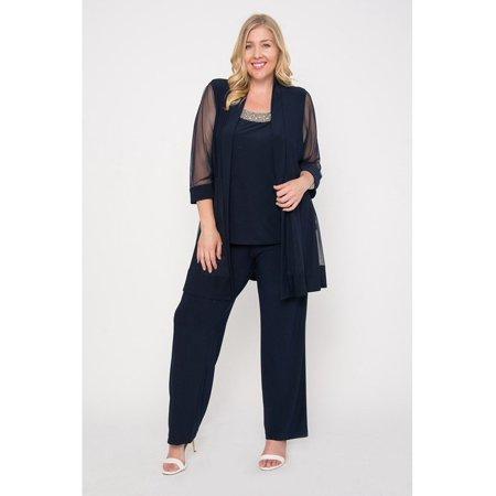 Rm Richards Long Formal Pants Suit Plus Size Dress Walmart