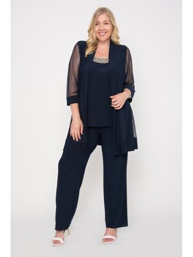 bc2504fc917 Product Image R M Richards Long Formal Pants Suit Plus Size Dress