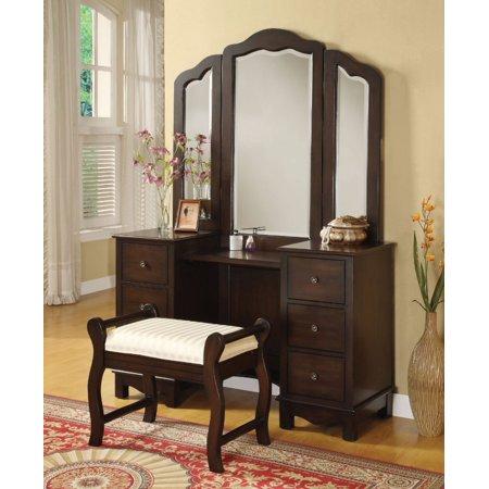 Groovy Sturdy Vanity Desk Stool Brown Dailytribune Chair Design For Home Dailytribuneorg