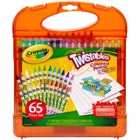 Crayola Twistables Colored Pencil Kit, 65 Pieces