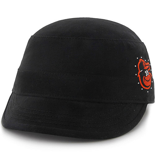 Baltimore Orioles '47 Girl's Toddler Military Adjustable Hat - Black - OSFA