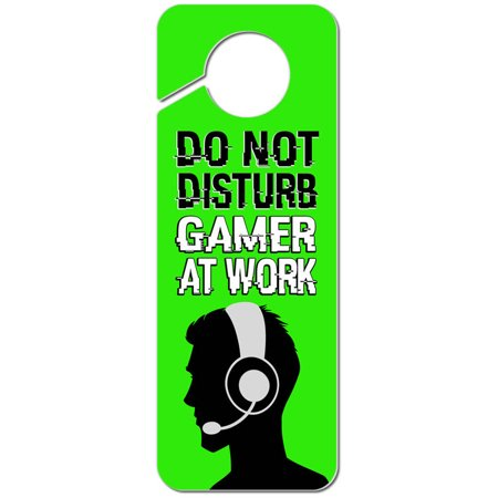 Its A Boy Sign (Do Not Disturb Gamer at Work Boy Male Man Plastic Door Knob Hanger)
