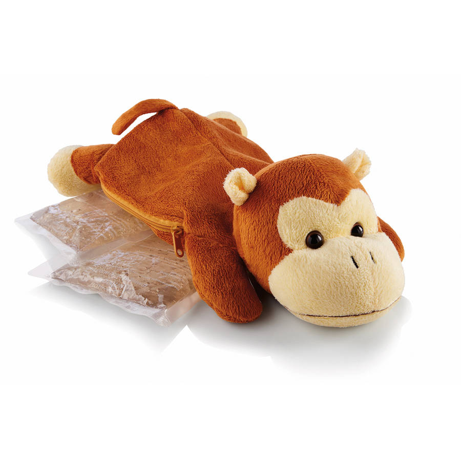 Sunbeam Comfort Friends Hot/Cold packs with plush MONKEY cover.