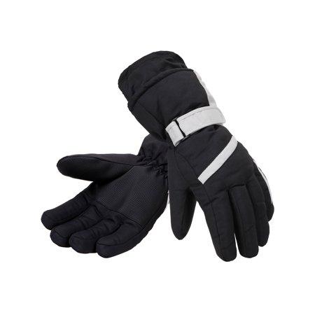 Men's 3M Thinsulate Lined Waterproof Snowboard / Ski Gloves,L,Black