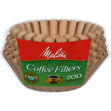 Basket Style Coffee Filter ((6 Pack) Melitta 8-12 Cup Brown Basket Coffee Filters, 200 Ct )