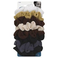 Goody Ouchless Ribbed Hair Scrunchies Assorted Neutral Colors 8 Ct