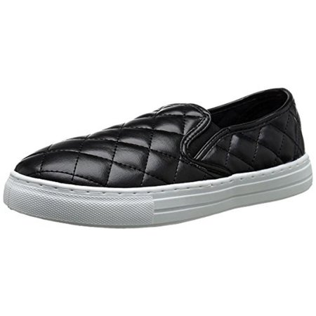 Qupid Womens Reba Faux Leather Quilted Fashion Sneakers (Leather Quilted Shoe Bag)