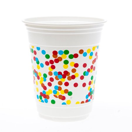 Frosted Plastic Cups (Frosted Cake 14 oz. Plastic)