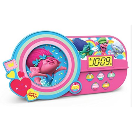 Dreamworks Trolls Alarm Clock With Music And Night Light