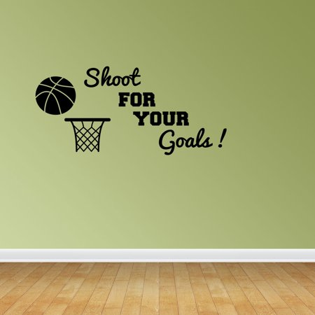 Basketball Shoot For Your Goals Vinyl Wall Decals Vinyl Decals ...