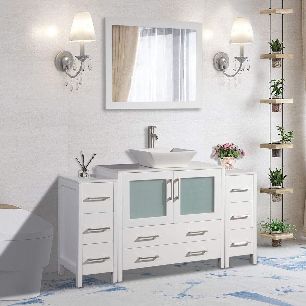 "Vanity Art 60"" Single Sink Bathroom Vanity Combo Set 8 ..."