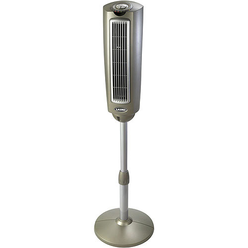 "Lasko 52"" Oscillating Pedestal Fan with Remote Control, Silver 2535"