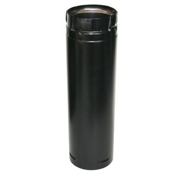 "DURAVENT 4"" X 12"" BLACK PELLET VENT PIPE - image 1 of 1"