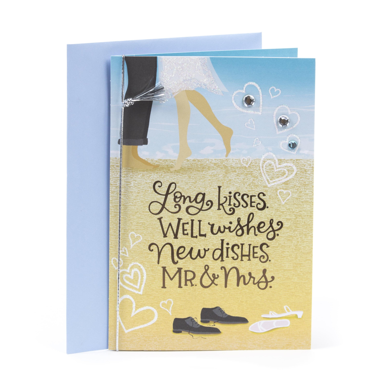 Hallmark Invitations Wedding: Hallmark Wedding Greeting Card (Couple On Beach)