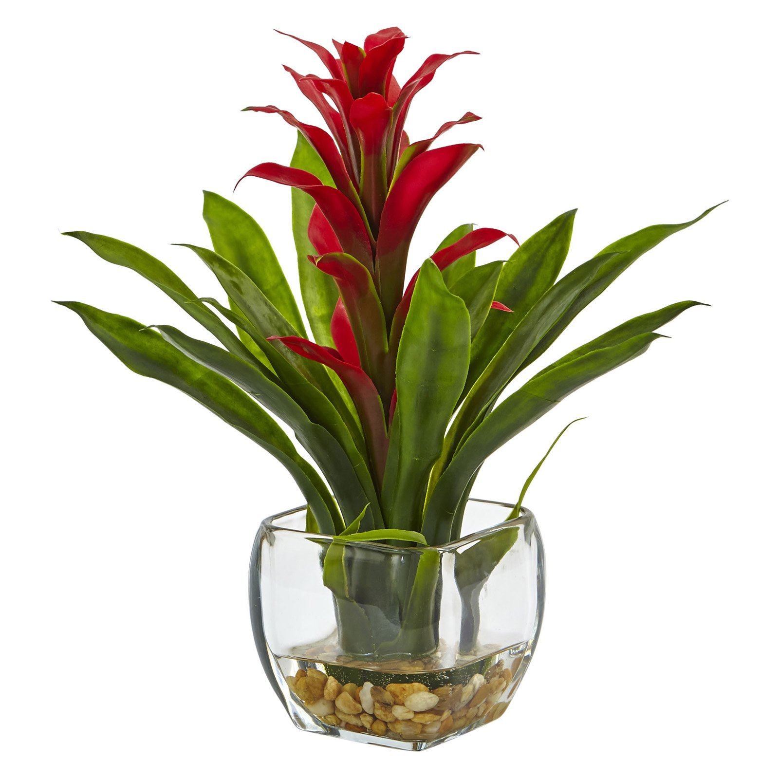 Nearly Natural Bromeliad Silk Plant