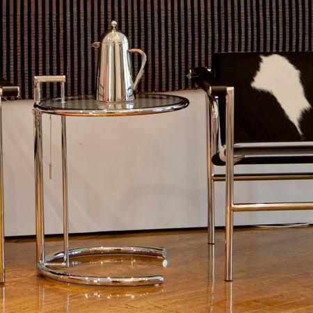 Euro Style Eileen Gray End Table-Glass/Chrome ()