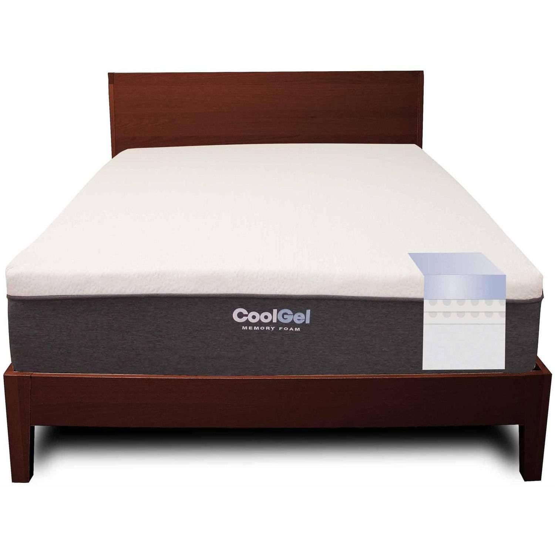 modern sleep cool gel memory foam 12 inch mattress multiple sizes walmartcom - Memory Foam Bed Frame