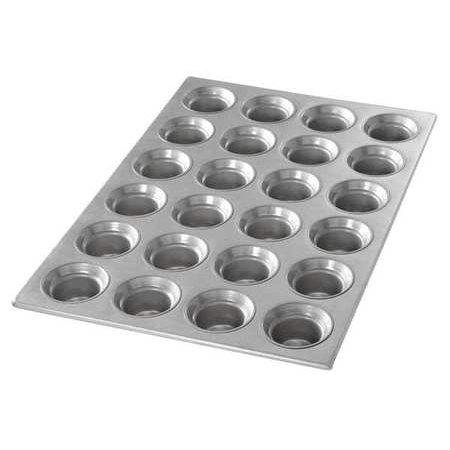 - CHICAGO METALLIC 42755 Mini Crown Muffin Pan,24 Moulds