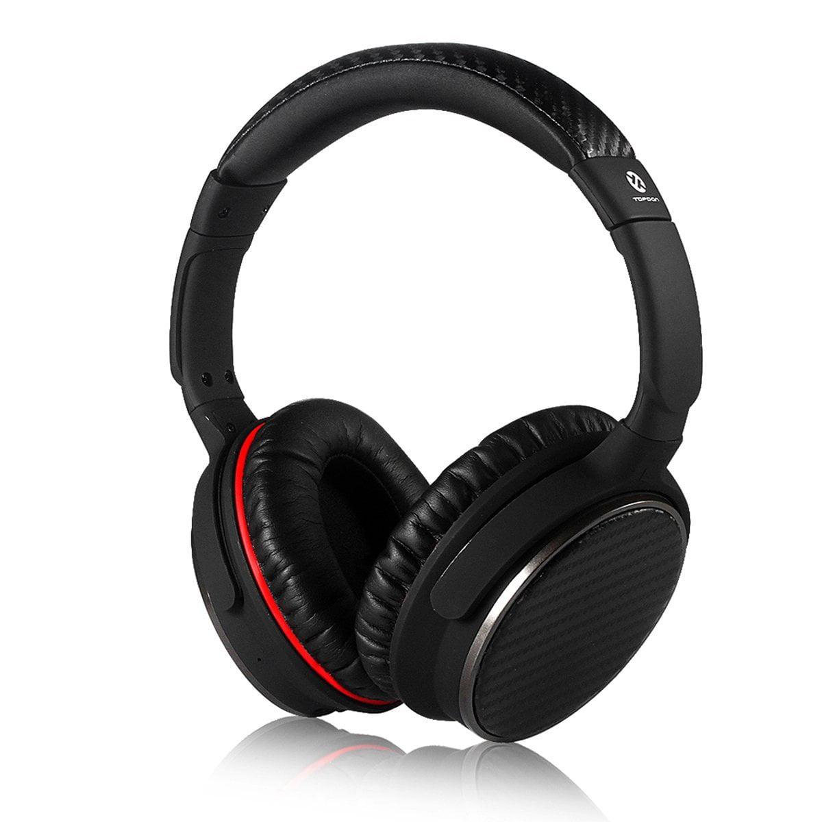 Bluetooth Headphones Over Ear, Topdon TP550 Lightweight Wireless Bluetooth Headphone with Microphone