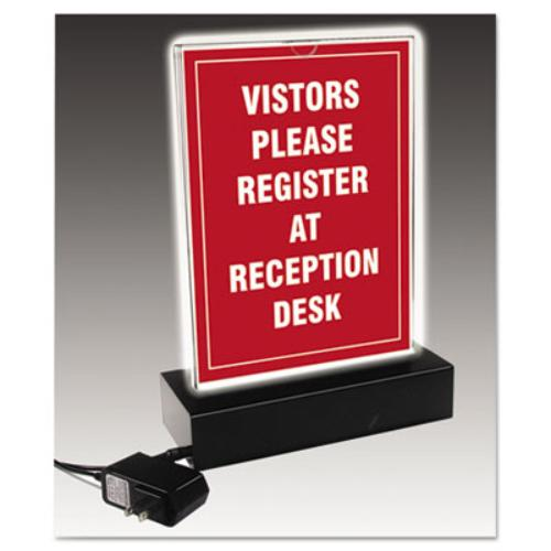 Glolite Nu-dell Double-sided Lighted Sign - Plastic - Clear, Black (34085led)