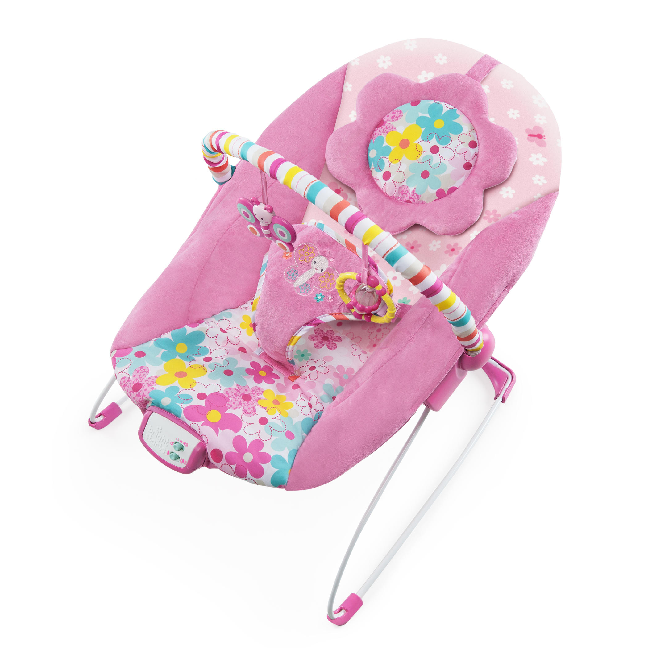 Bright Starts Pretty In Pink Butterfly Cutouts Bouncer