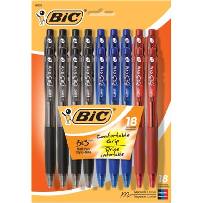 Bic Corporation BU3P18-AST 18 Count Assorted BU3 Ball Point Pens - Pack of 4