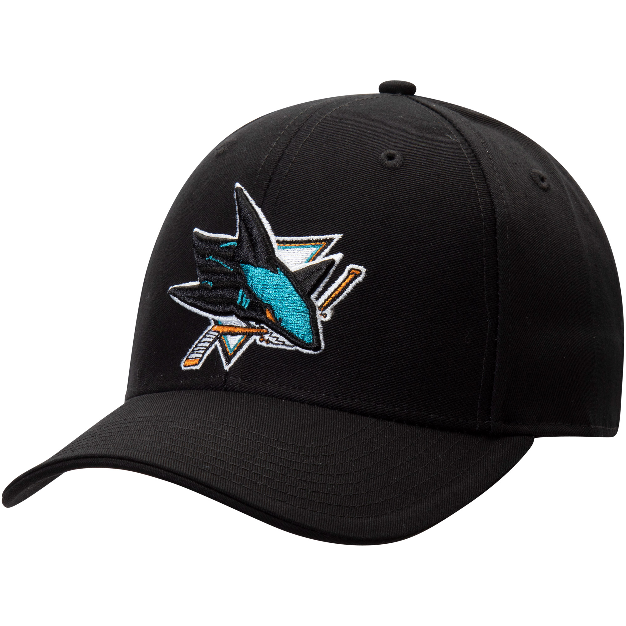Men's Fanatics Branded Black San Jose Sharks Adjustable Hat - OSFA