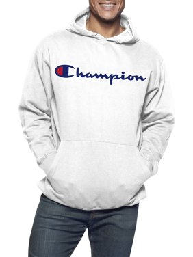 Champion Men's Big & Tall Powerblend Fleece Graphic Script Logo Pullover Hoodie, up to Size 6XL