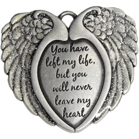 Pewter Remembrance Wings Christmas Ornament