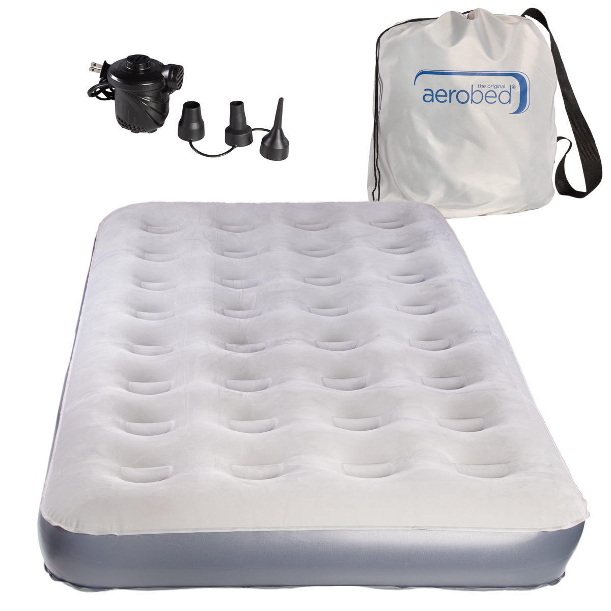 Size Aerobed Twin with Handheld Pump and Storage Bag Approx 74 x 39 x 8 inches Fits Standard Size Sheets
