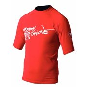 Body Glove 1210J12NN  1210J12NN; Basic Junior Short Sleeve Lycra Rash Guard Rashguard 12 Red