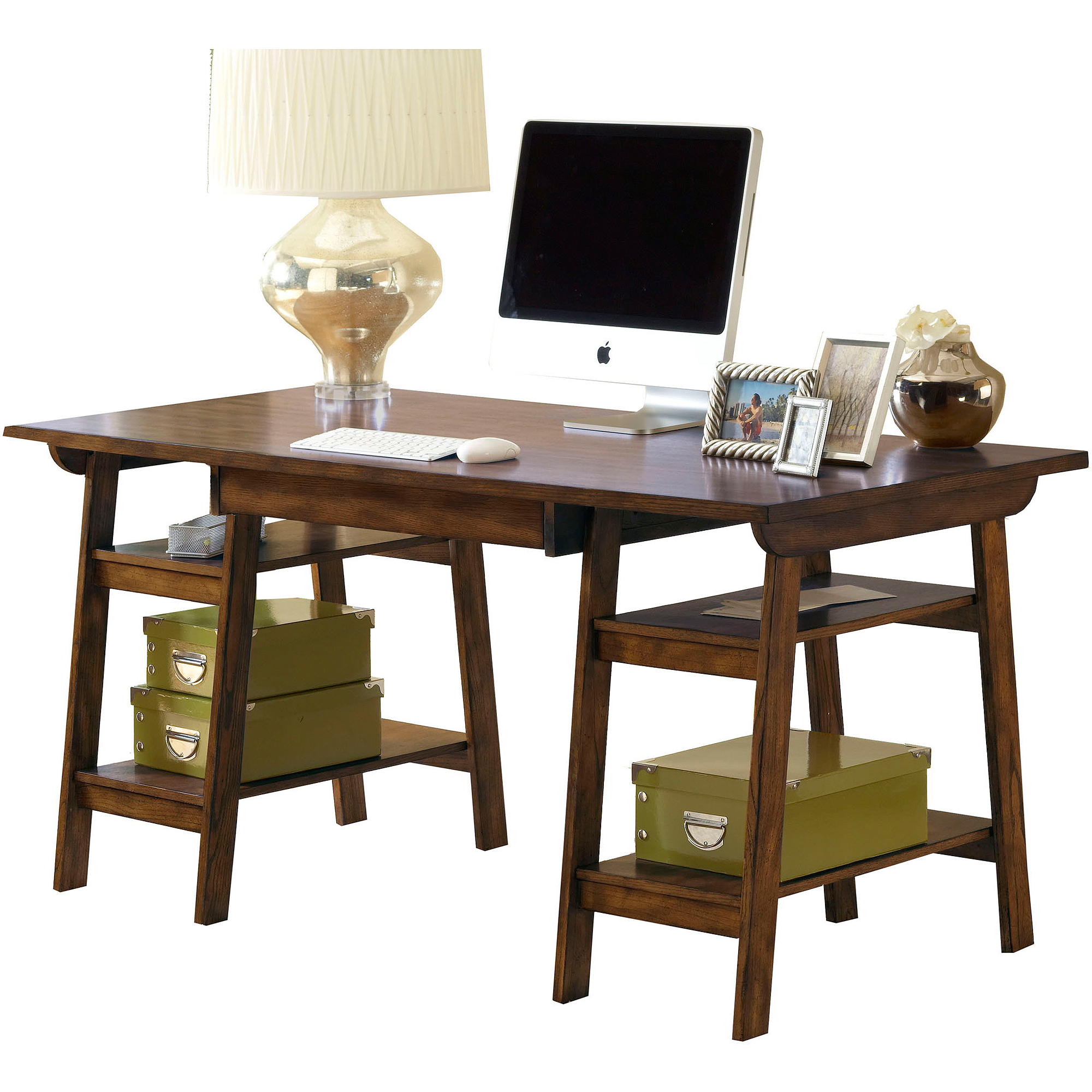 Amazing photo of  Park View 30 Swivel Arm Bar Stool in Medium Brown Oak Walmart.com with #614022 color and 2000x2000 pixels