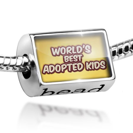 Bead Worlds best Adopted Kids, happy yellow Charm Fits All European