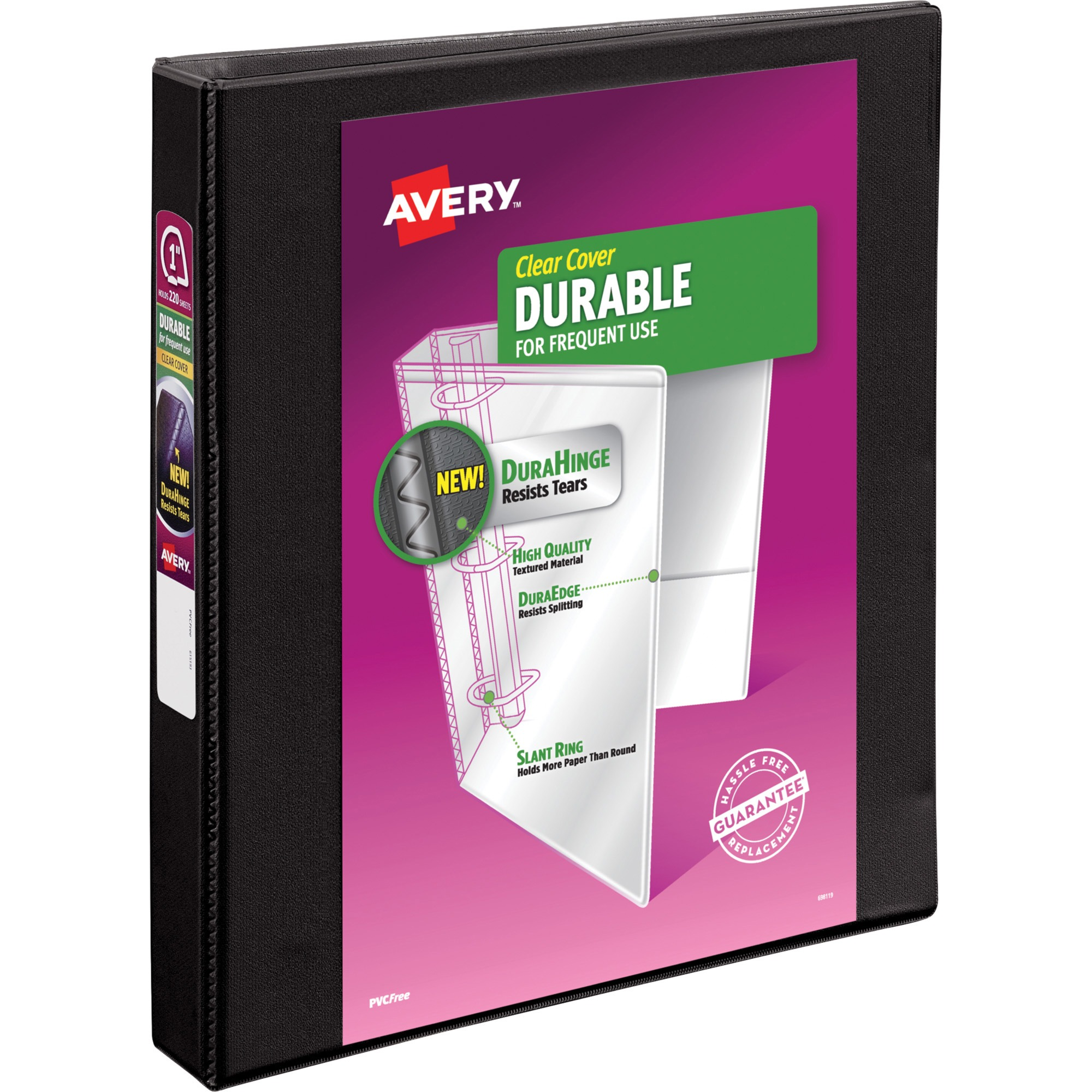 "Avery Durable Reference Vinyl EZ-Turn Ring View Binder, 1"" Capacity by Avery"