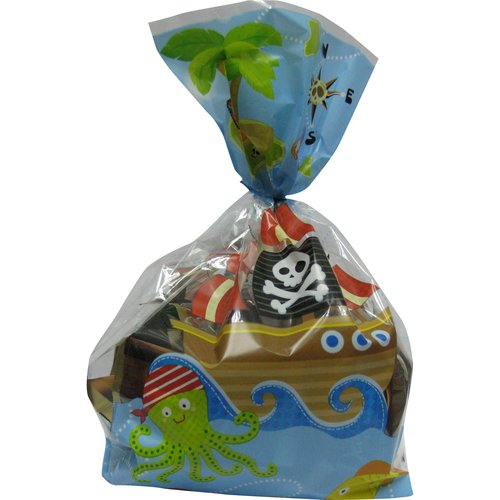 Celebrate Rectangular Pirate Treat Bags with Ties, 20pk