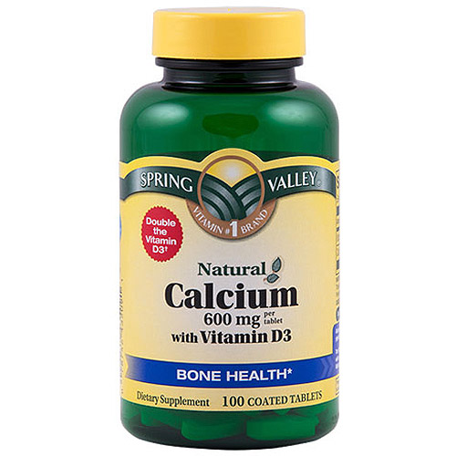 Spring Valley Calcium with Vitamin D 600 mg