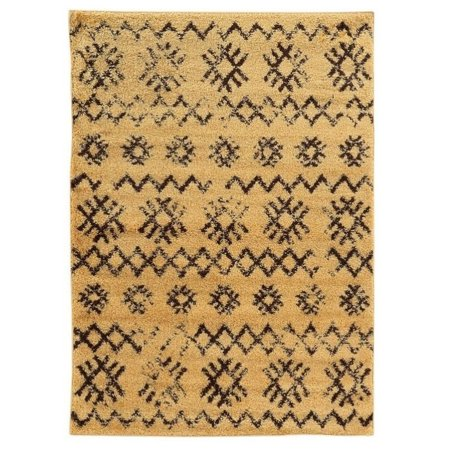 Moroccan Mekenes Area Rug, Camel/Brown, 5ft x 7ft