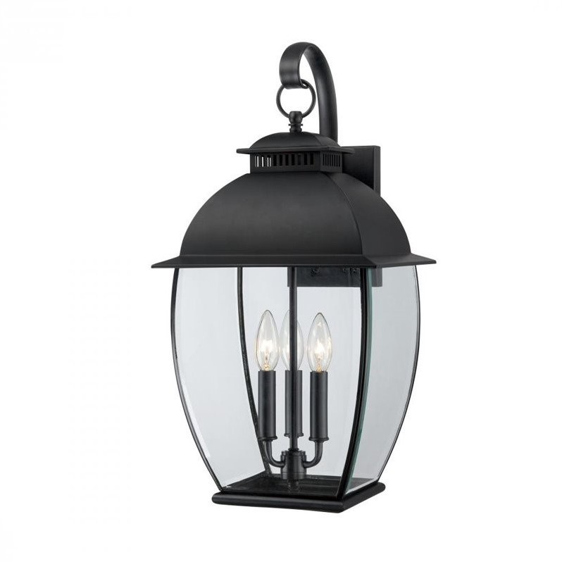 Quoizel Bain Large Wall Lantern in Mystic Black by Quoizel