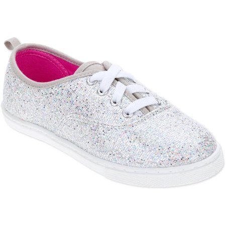 f07902f14ad5 Faded Glory - Girls  Sparkle Lace-Up Casual Shoe - Walmart.com