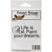 Riley & Company Funny Bones Cling Mounted Stamp 2.75 Inch X 1.25 I