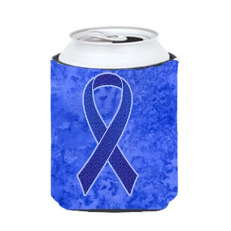 2c23109e20f3 Dark Blue Ribbon For Colon Cancer Awareness Can Or Bottle Hugger, 12 Oz.