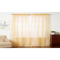 4-Piece SHEER PANEL with 2inch ROD POCKET - Window Curtains 55-inch width X 84-inch Length