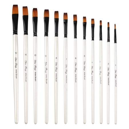 EEEkit Art Paint Brushes for Acrylic Painting Watercolor Oil Gouache - Body and Face Paint Brushes. Best Professional Art Supplies Painting Brush Set of 12 pcs for Adults and