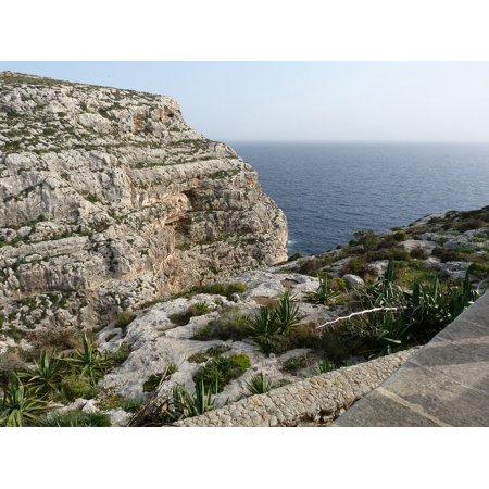 Canvas Print Rocks Malta Sea Stretched Canvas 10 x 14