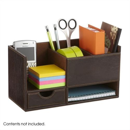 Leather Look Small Organizer