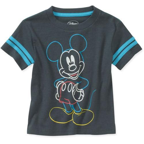 Disney Baby Boys' Mickey Glow Ink Graphic Tee