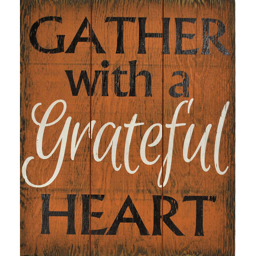 Boulder Innovations 'Gather with a Grateful Heart' Wall D cor
