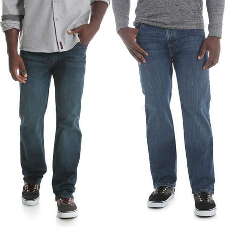 Wrangler Mens Five Star Regular Fit Jeans with Flex Bundle (Big Star Jeans Clearance)