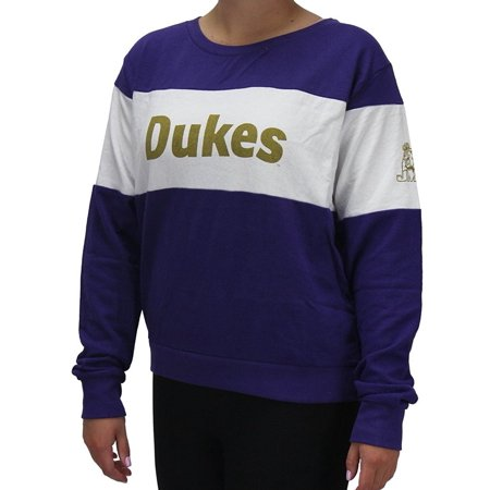 Collegiate Duke University (Pressbox Women' s James Madison University JMU Dukes Long Sleeve Shirt Pullover)