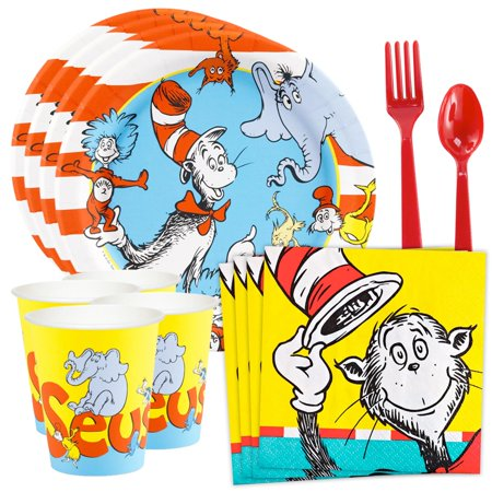 Dr. Seuss Standard Tableware Kit (Serves 8) - Dr Seuss Party City